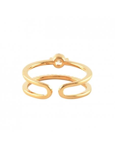 Dubbele Staaf Kristallen Ring