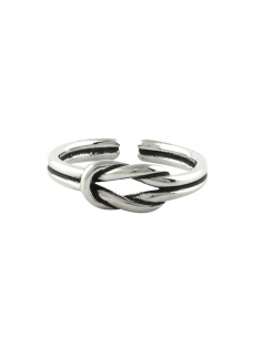 Sterling Zilveren Dubbele Knoop Ring