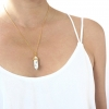 Marble Pendant Gold Necklace