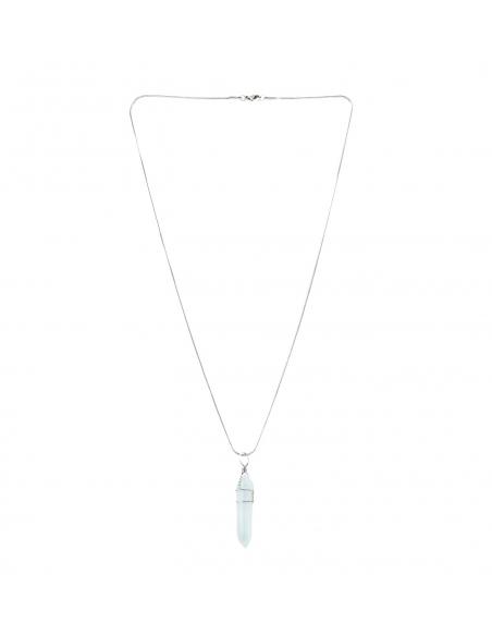 Opal Quartz Stone Pendant Necklace
