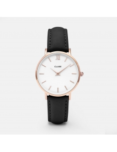 CLUSE Watch Minuit Rose Gold White Black