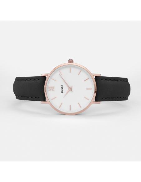 CLUSE Horloge Minuit Roze Goud Wit Zwart