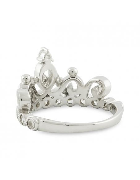 Sterling Zilveren Prinses Kroon Ring