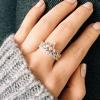 Sterling Zilveren Prinses Kroon Ring