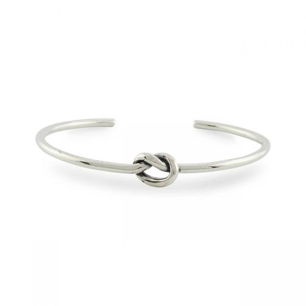 Sterling Zilveren Armband met Liefdesknoop