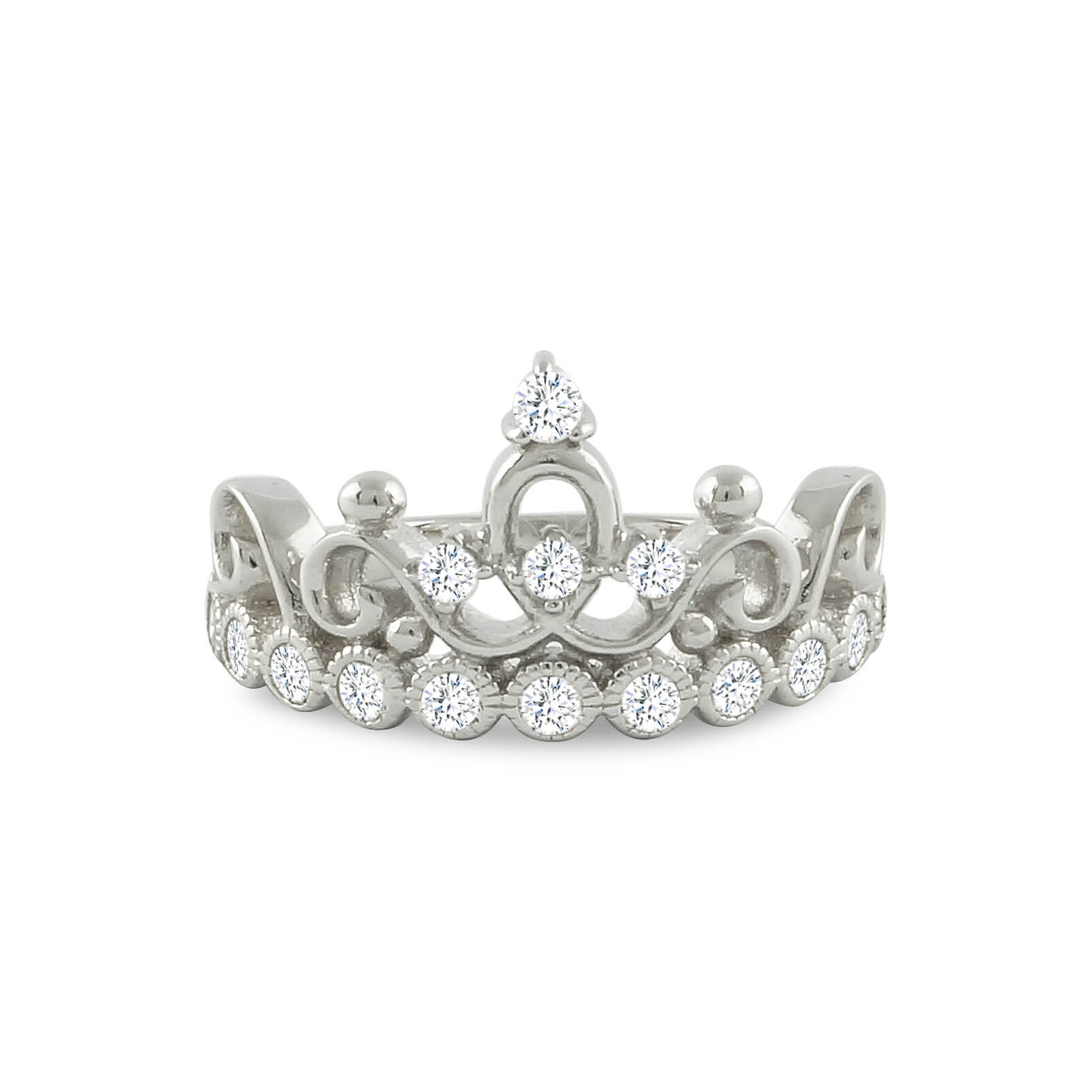 sterling silver princess crown ring 925 sterling silver