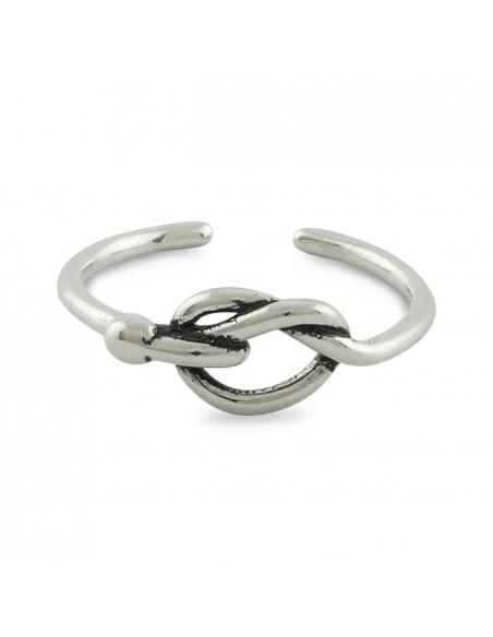 Sterling Zilveren Ring met Gedraaide Knoop