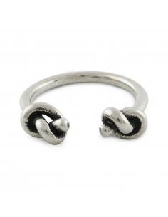 Sterling Silver Open Knots Ring