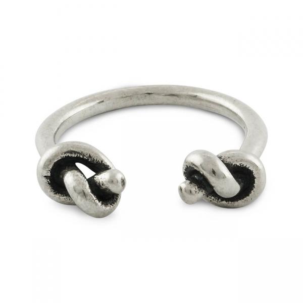 Sterling Zilveren Ring met Open Knoop
