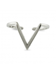 Sterling Silver V Shape Silver Ring