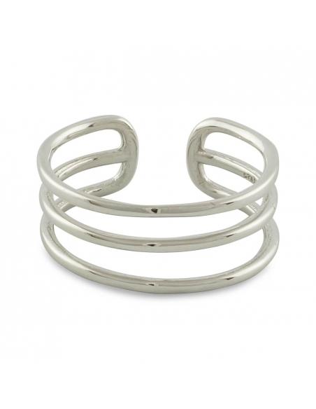 Sterling Zilveren Ring met Driedubbele Band
