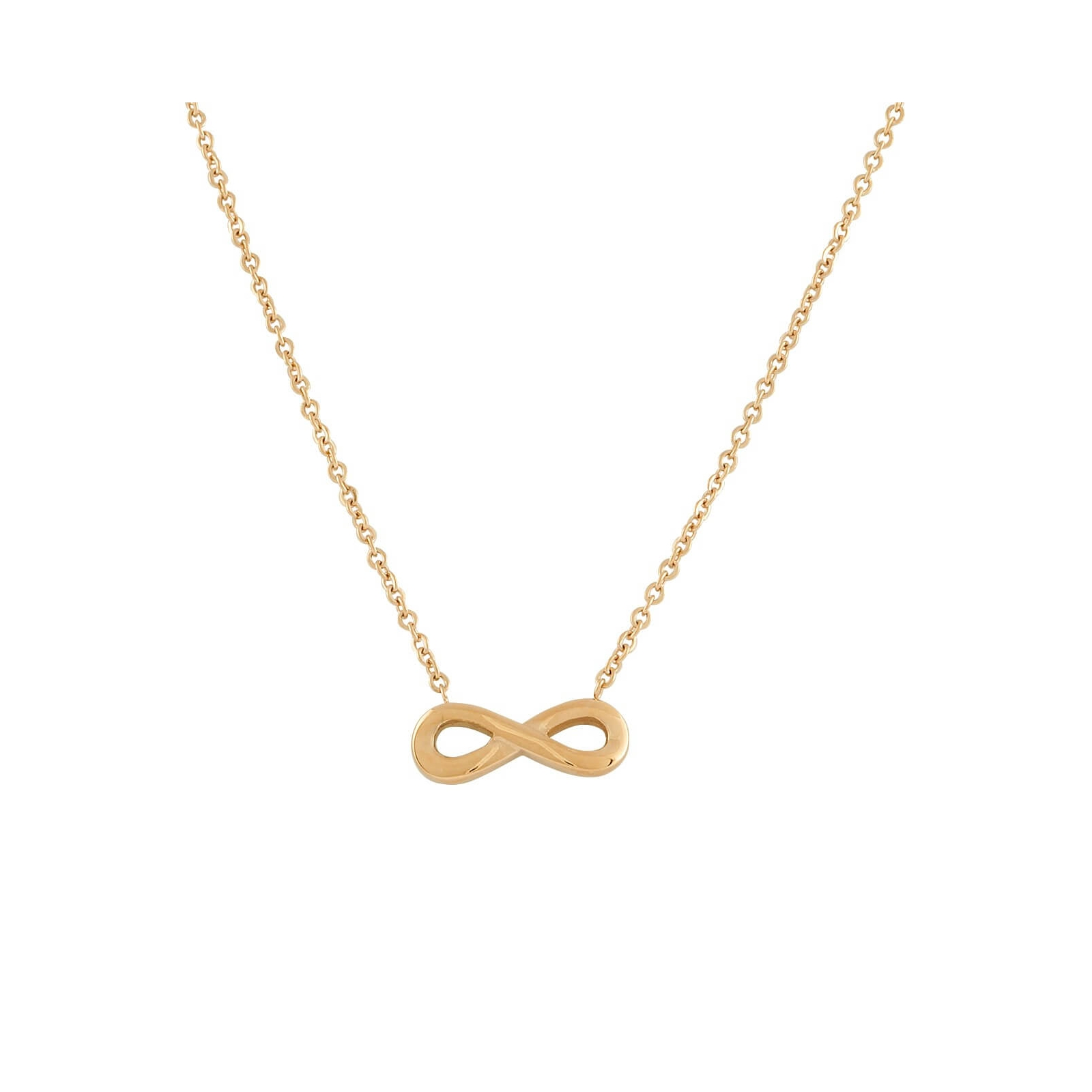 Infinity Necklace Rose Gold Plated