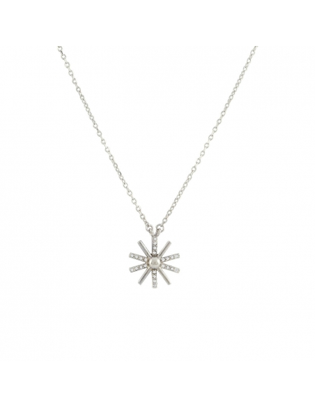 Sterling Silver Shining Sun Necklace
