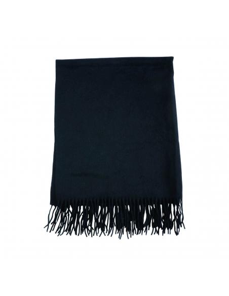 Zwarte Wollen Sjaal
