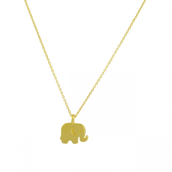 Dainty Baby Elephant Necklace