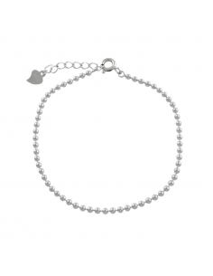 Armband van mini zilveren kralen
