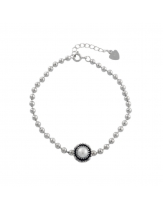 Pearl Detail Round Bead Bracelet
