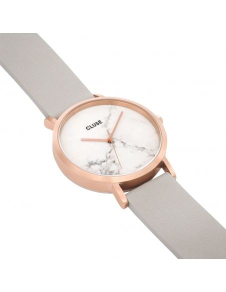 CLUSE Watch La Roche Rose Gold White Marble Grey
