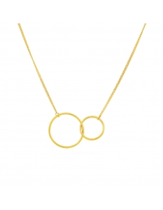 Dubbele ring-ketting-goud