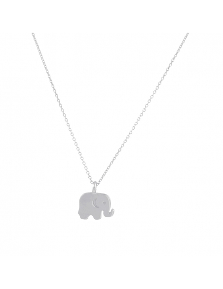 Baby Olifantje Ketting-zilver