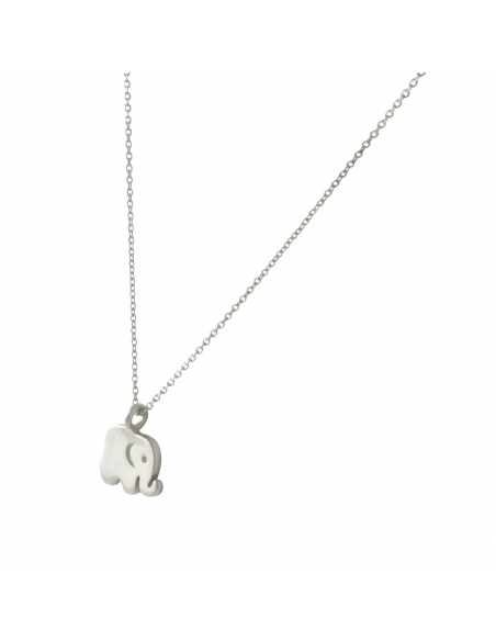 Dainty Baby Elephant Necklace-Silver