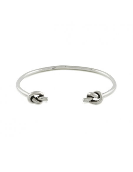 Sterling Silver Knotted Cuff