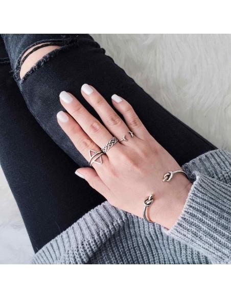 Sterling Zilveren Geknoopte Armband
