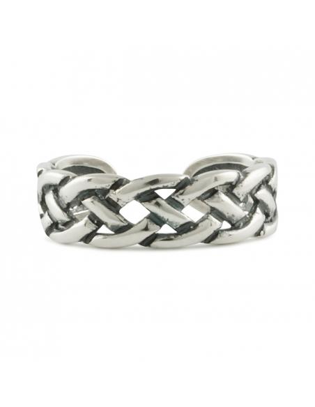 Sterling Zilveren Gevlochten Ring