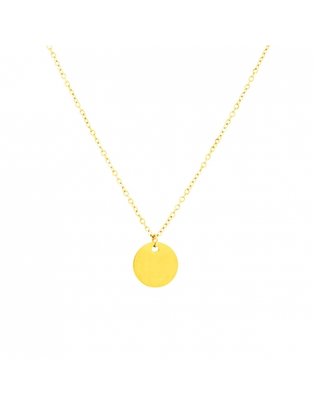 Small Coin Necklace - Gold