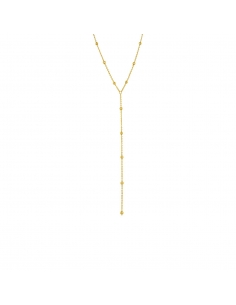 Gold Bead Lariat Necklace