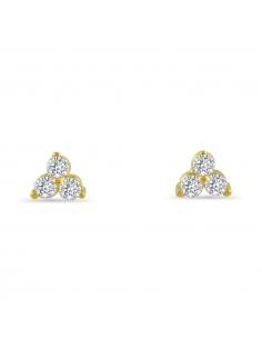 Kristallen cluster oorbellen