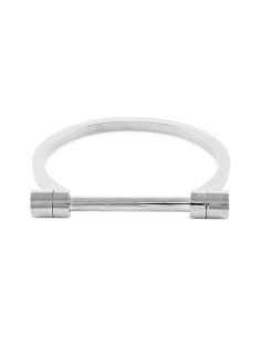 Silver Edgy Bar Bangle