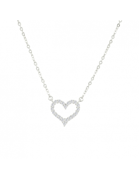 Dainty Open Heart Necklace