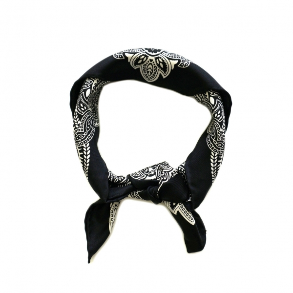 Silk Bandana-Black