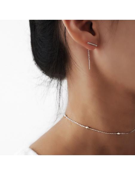 Threader-look oorbellen