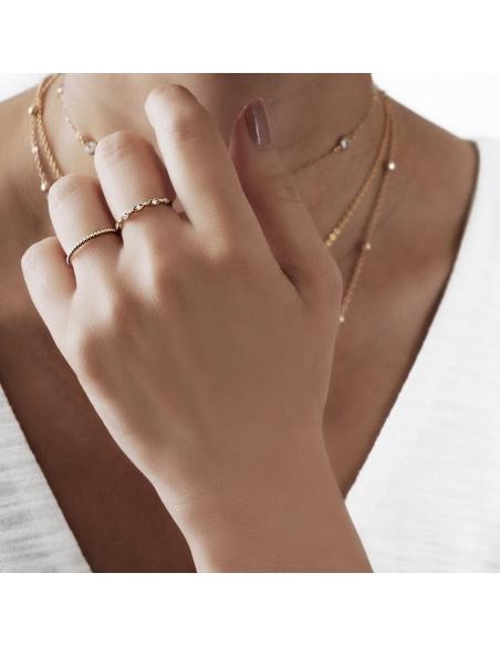 Ring Met Kralen Textuur