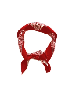 Silk Bandana-Red