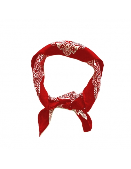 Silk Bandana-Red