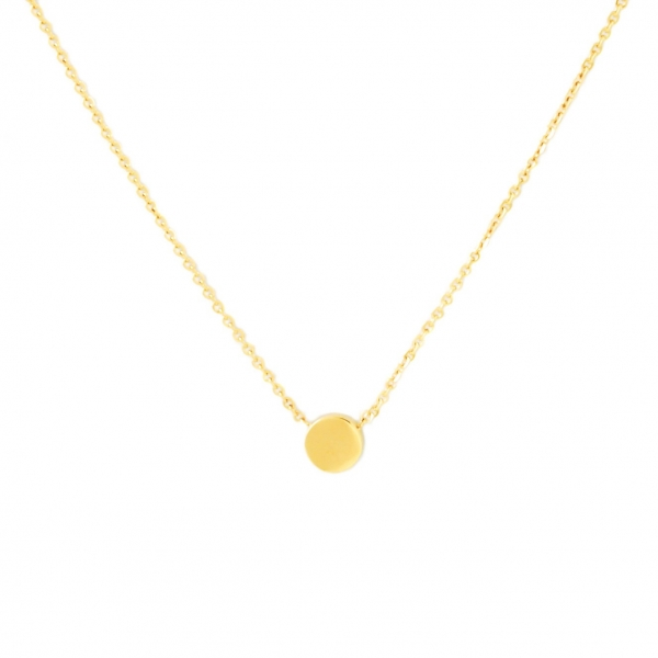 Circle Dot Necklace - gold
