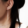 Linear Drop-back Earrings
