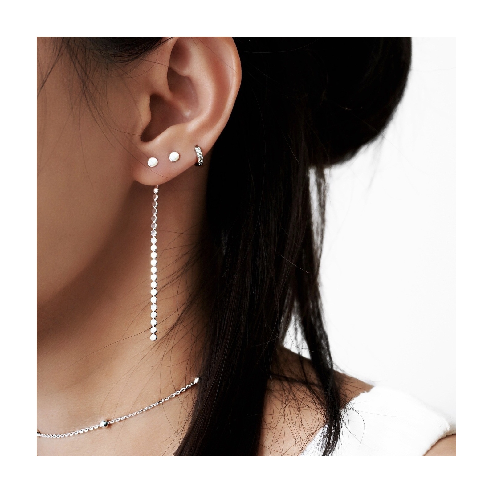 Linear Drop Back Earrings