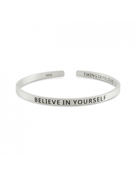 Believe in Yourself Mantra Cuff