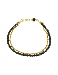 Layered Beaded Chain Bracelet