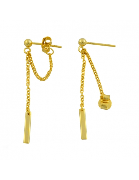 Chain Loop Drop-back Earrings