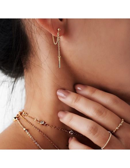 Kettinglus oorbellen