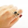 Vintage Bejeweled Ring Set