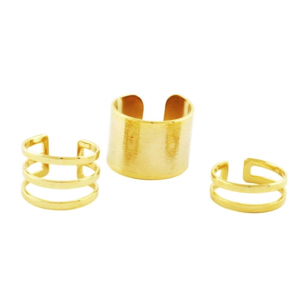 Trio Bold Ring Set