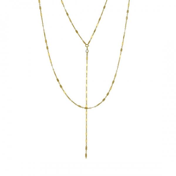 Gouden Gelaagde Lange Lasso Ketting