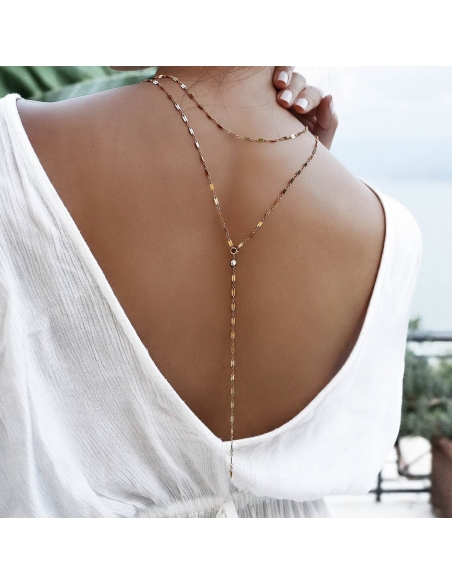 Layered Long Lariat Necklace