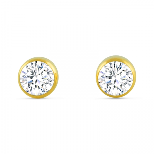 Kristal-diamanten Oorbellen